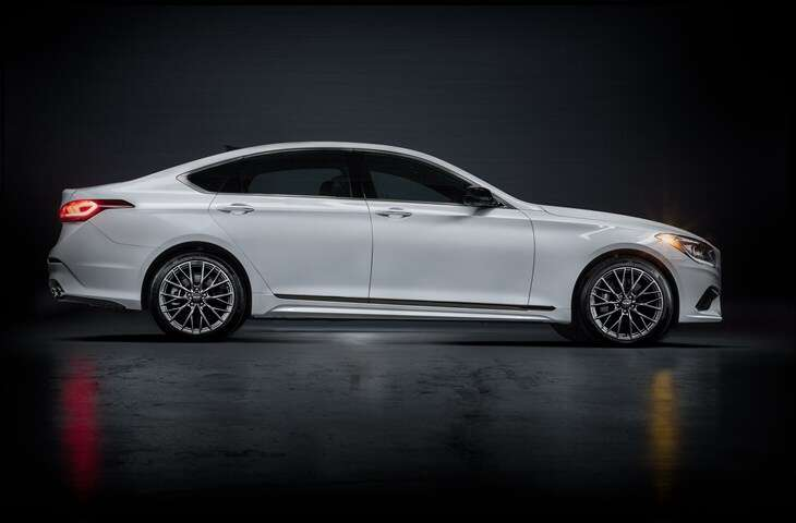 2018 genesis g80 sport to start at 55 250 the drive. Black Bedroom Furniture Sets. Home Design Ideas