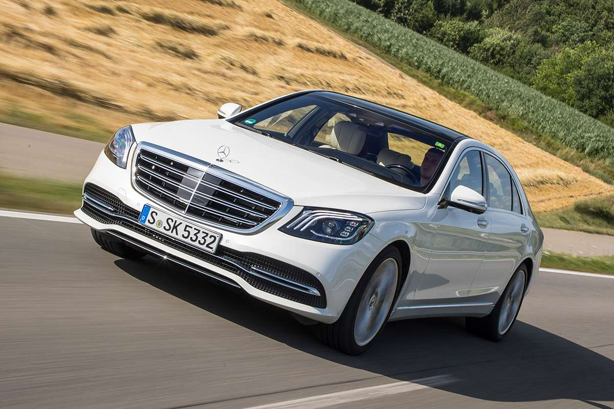 2018 mercedes benz s class first drive the first name in for What is the fastest mercedes benz car