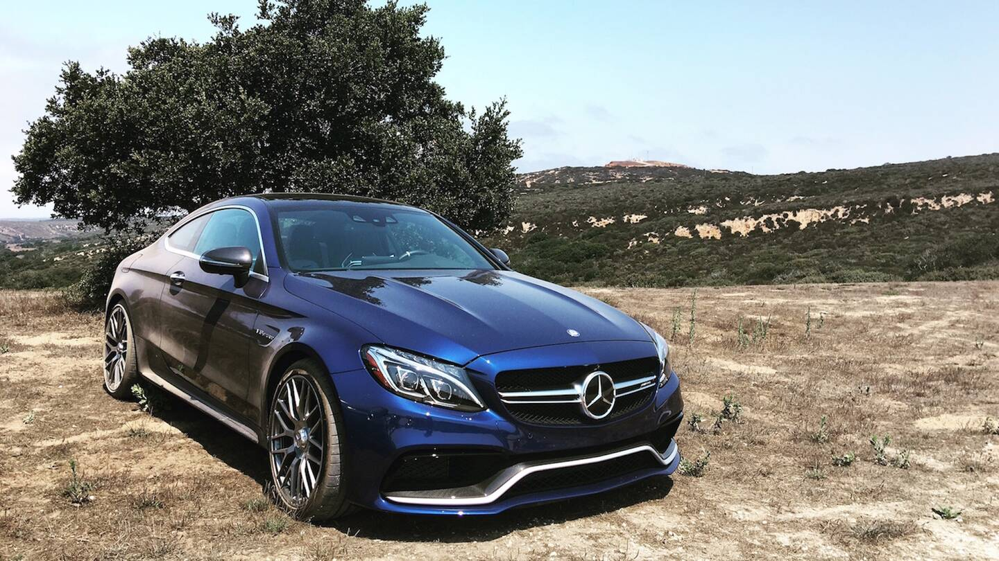 making night moves with the 2017 mercedes amg c63s the drive. Black Bedroom Furniture Sets. Home Design Ideas