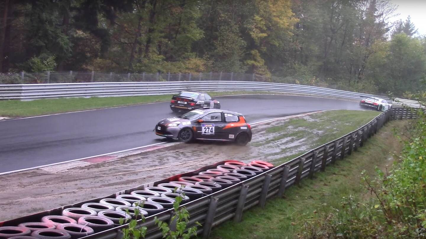Watch A Bunch Of Race Cars Crash In A Muddy Mess At The