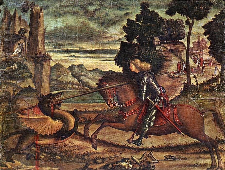 St George and the Dragon Carpaccio 1516 - چگونه میتوان یک اژدها را کشت؟ اژدهاکشی در بازی تاج و تخت و افسانه ها