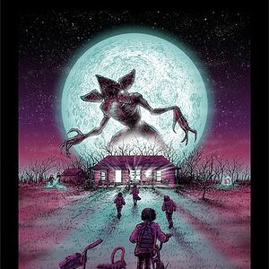 Stranger Things hand-numbered edition uncoated lithograph