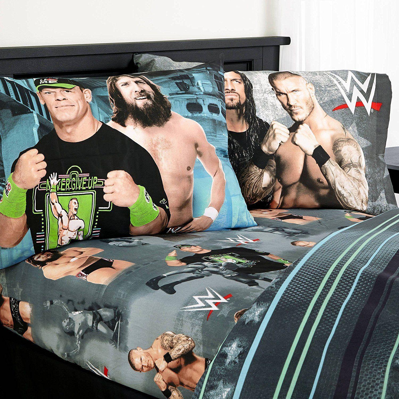 WWE Microfiber Twin Bedding Sheet Set