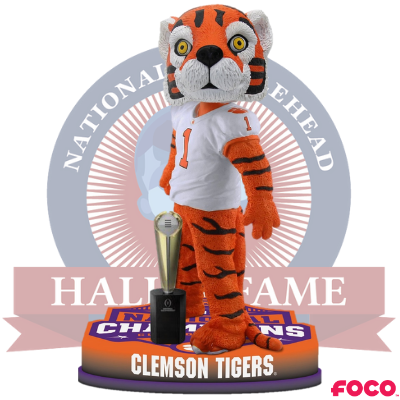 CLEMSON TIGERS NCAA COLLEGE FOOTBALL NATIONAL CHAMPIONS BOBBLEHEAD
