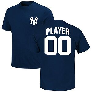 8251ef5f550 New York Yankees Majestic Custom Roster Name   Number T-Shirt