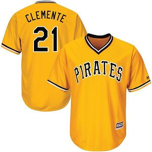 789b03cd6 Roberto Clemente Pittsburgh Pirates Majestic Alternate Cool Base Player  Jersey