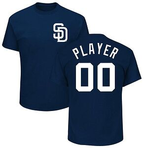 25b63920 San Diego Padres Majestic Custom Roster Name & Number T-Shirt