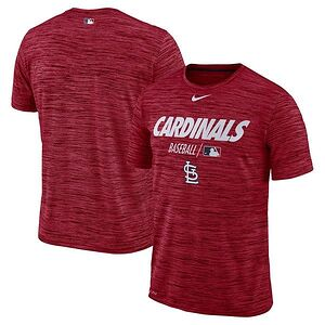 a61f23ea St. Louis Cardinals Nike Authentic Collection Velocity Team Issue  Performance T-Shirt