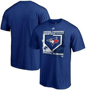 b88945bf619 Toronto Blue Jays Majestic 2019 Spring Training Grapefruit League Base on  Ball T-Shirt