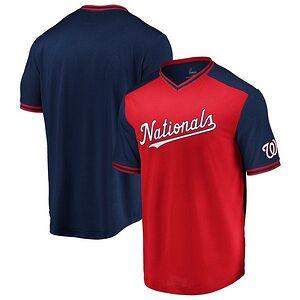 db14da4f06c Washington Nationals Majestic Good Graces V-Neck T-Shirt