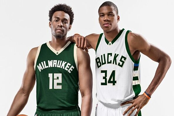 e221a247ef8 The new uniforms were revealed to those gathered at the Bucks Summer Block  Party on June 6 in Milwaukee. Team president Peter Feigin stood atop a  building ...
