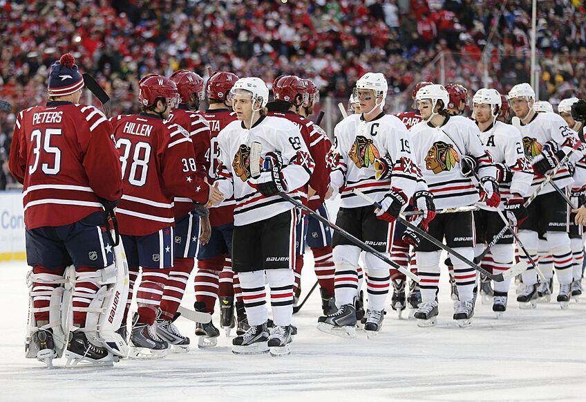 The Washington Capitals and Chicago Blackhawks square off on Thursday  evening at the Verizon Center. Let s take a look at them with the help of a  Blackhawks ... a10877050