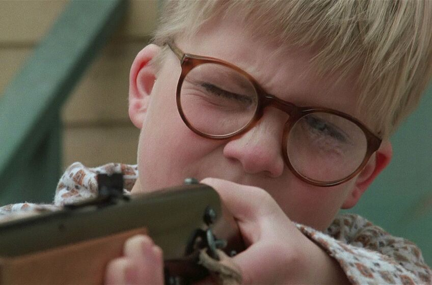 ralphie takes on the walking dead in a christmas story mashup