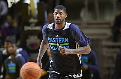 half off 1cd66 a7960 Kyrie Irving Missed Paul George at All-Star Weekend