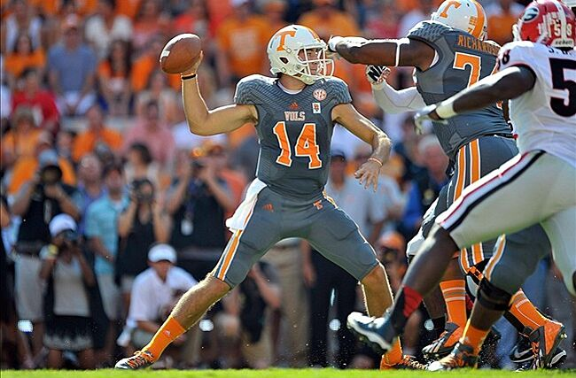 free shipping d8584 7d7bf Tennessee Volunteers Quarterback Justin Worley Out For - Www ...