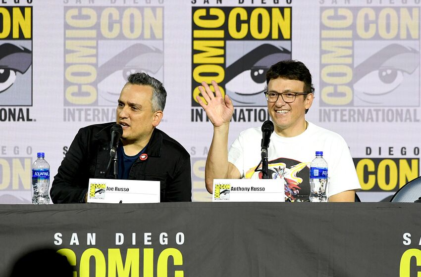 SAN DIEGO, CALIFORNIA - JULY 19: Joe Russo and Anthony Russo speak during A Conversation With The Russo Brothers during 2019 Comic-Con International at San Diego Convention Center on July 19, 2019 in San Diego, California. (Photo by Kevin Winter/Getty Images)