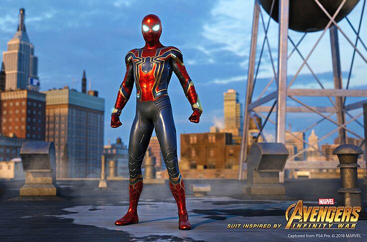 Spider-Man: Infinity War suit available for Spider-Man pre-order