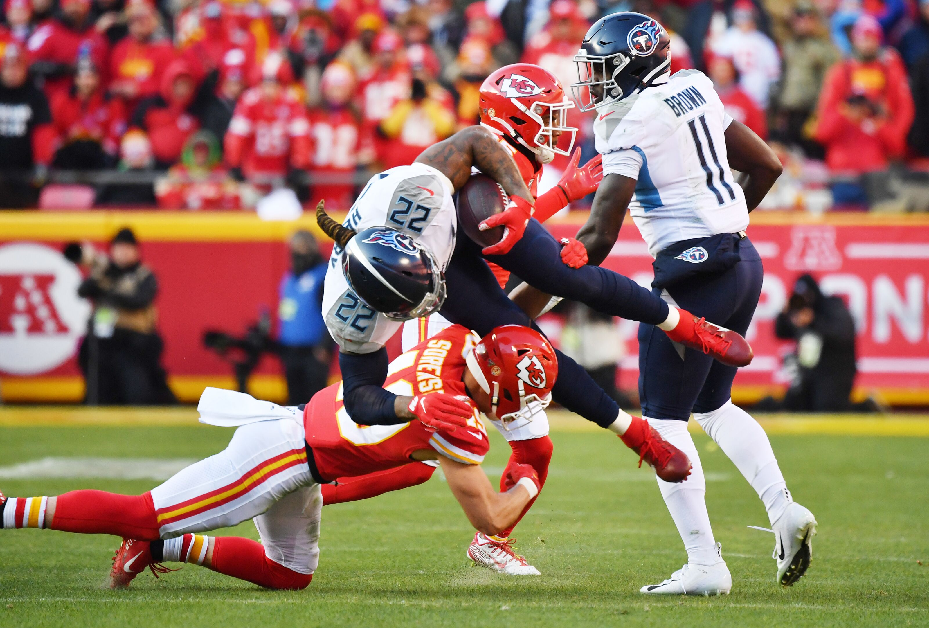 Chiefs succeeded versus Titans where Patriots and Ravens failed