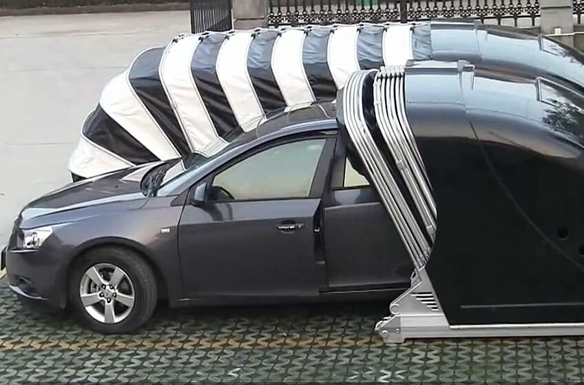 Check Out This Portable Pop Up Garage From China - Art of ...