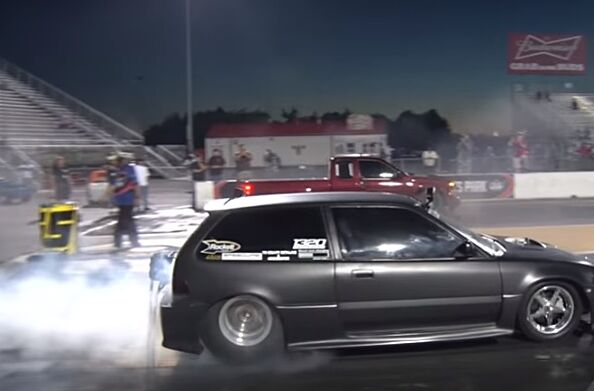 Watch This 1989 Honda Civic Hatchback With 1064 Hp Drag Race