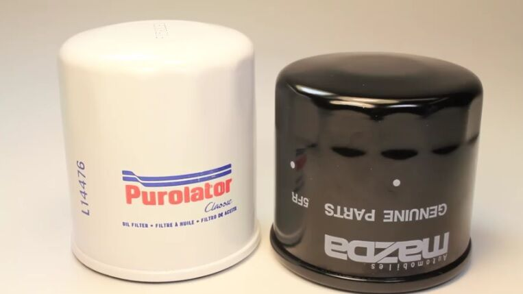 The Difference Between A Mazda Oem Oil Filter An Aftermarket One