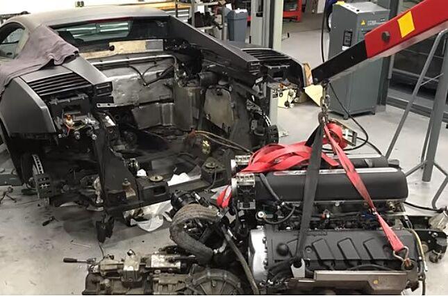 Gallardo Lamborghini Engine Removal Time Lapse