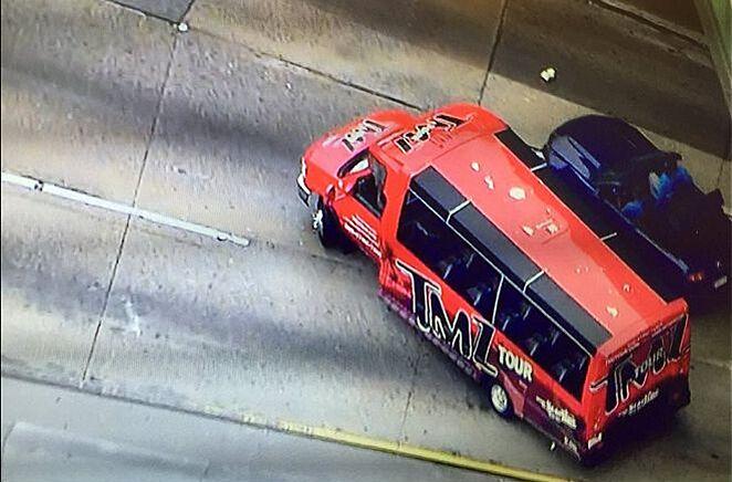TMZ Bus Intervenes High Speed Chase In LA