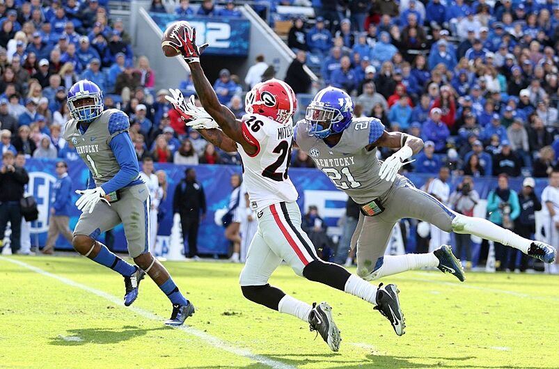 Image result for Georgia Bulldogs vs. Kentucky Wildcats