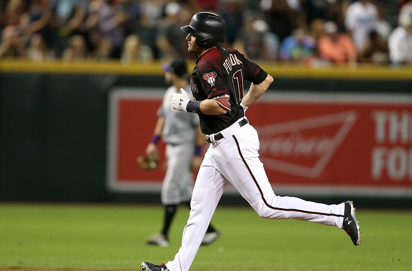 PHOENIX, AZ - SEPTEMBER 22: A.J. Pollock #11 of the Arizona Diamondbacks rounds the bases after hitting a home run against the Colorado Rockies during the fifth inning of an MLB game at Chase Field on September 22, 2018 in Phoenix, Arizona. (Photo by Ralph Freso/Getty Images)