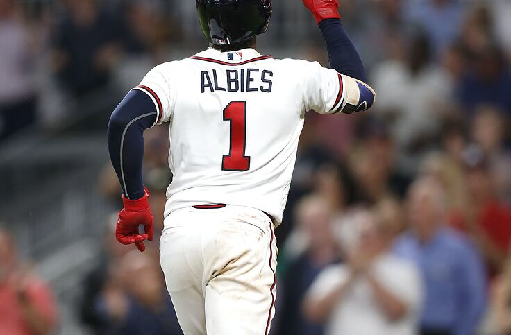 low priced ee4db ed7af Atlanta Braves Ozzie Albies Thriving in New Leadoff Role