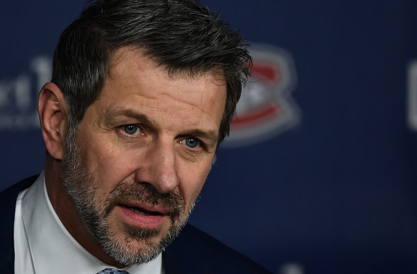 MONTREAL, QC - JANUARY 07: General manager of the Montreal Canadiens Marc Bergevin speaks with the media prior to the NHL game against the Minnesota Wild at the Bell Centre on January 7, 2019 in Montreal, Quebec, Canada. The Minnesota Wild defeated the Montreal Canadiens 1-0. (Photo by Minas Panagiotakis/Getty Images)