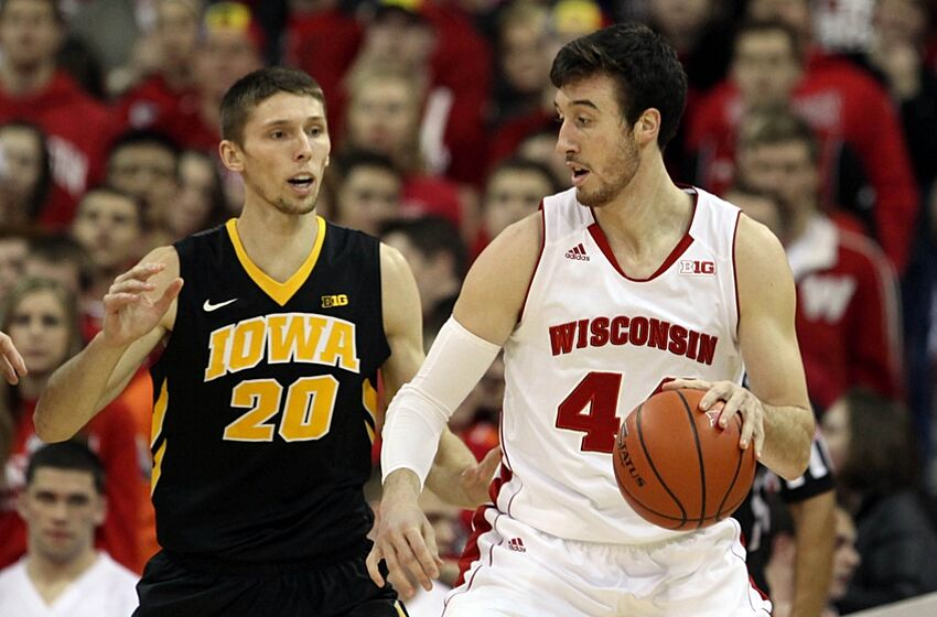 Image result for Wisconsin Badgers vs. Iowa Hawkeyes college basketball