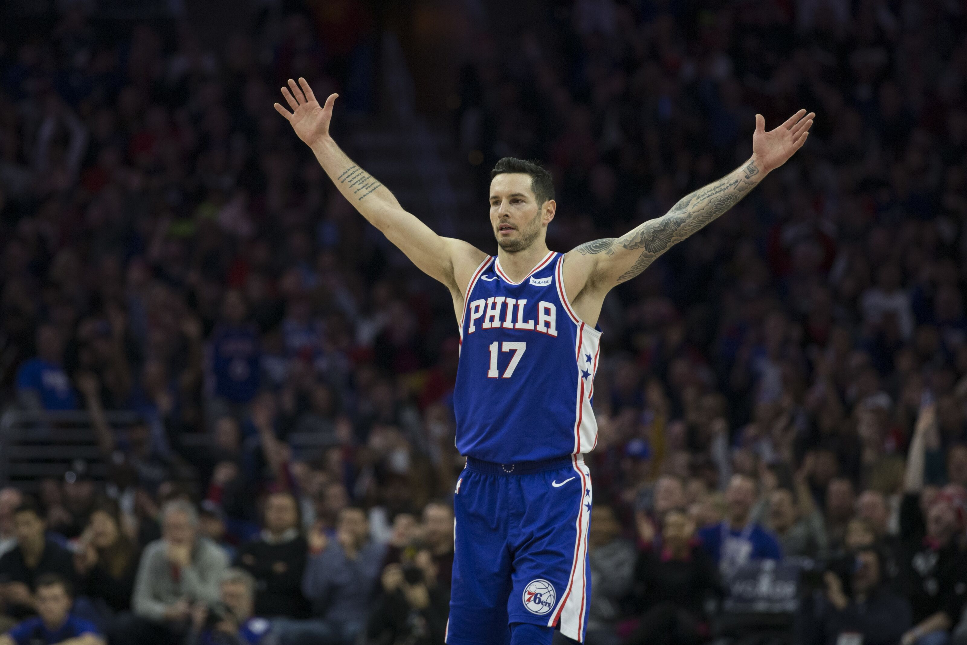 Duke Basketball J J Redick Leads 76ers To Comeback Victory In Utah