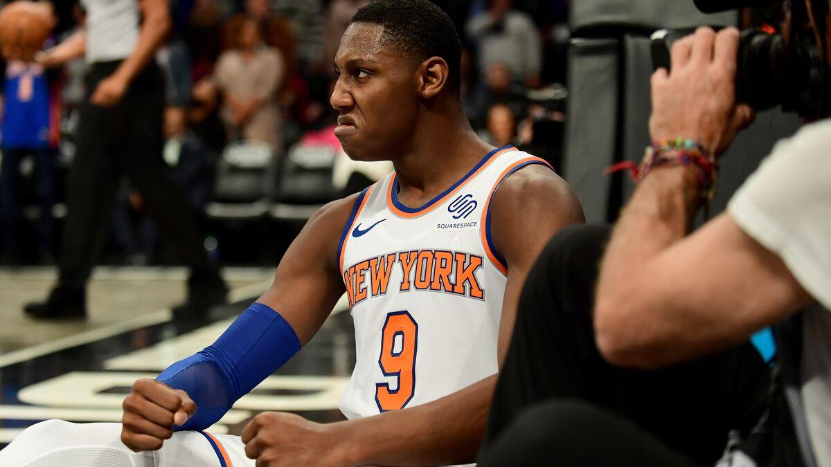 R.J. Barrett helps break Knicks' 10-game losing streak in win over Warriors