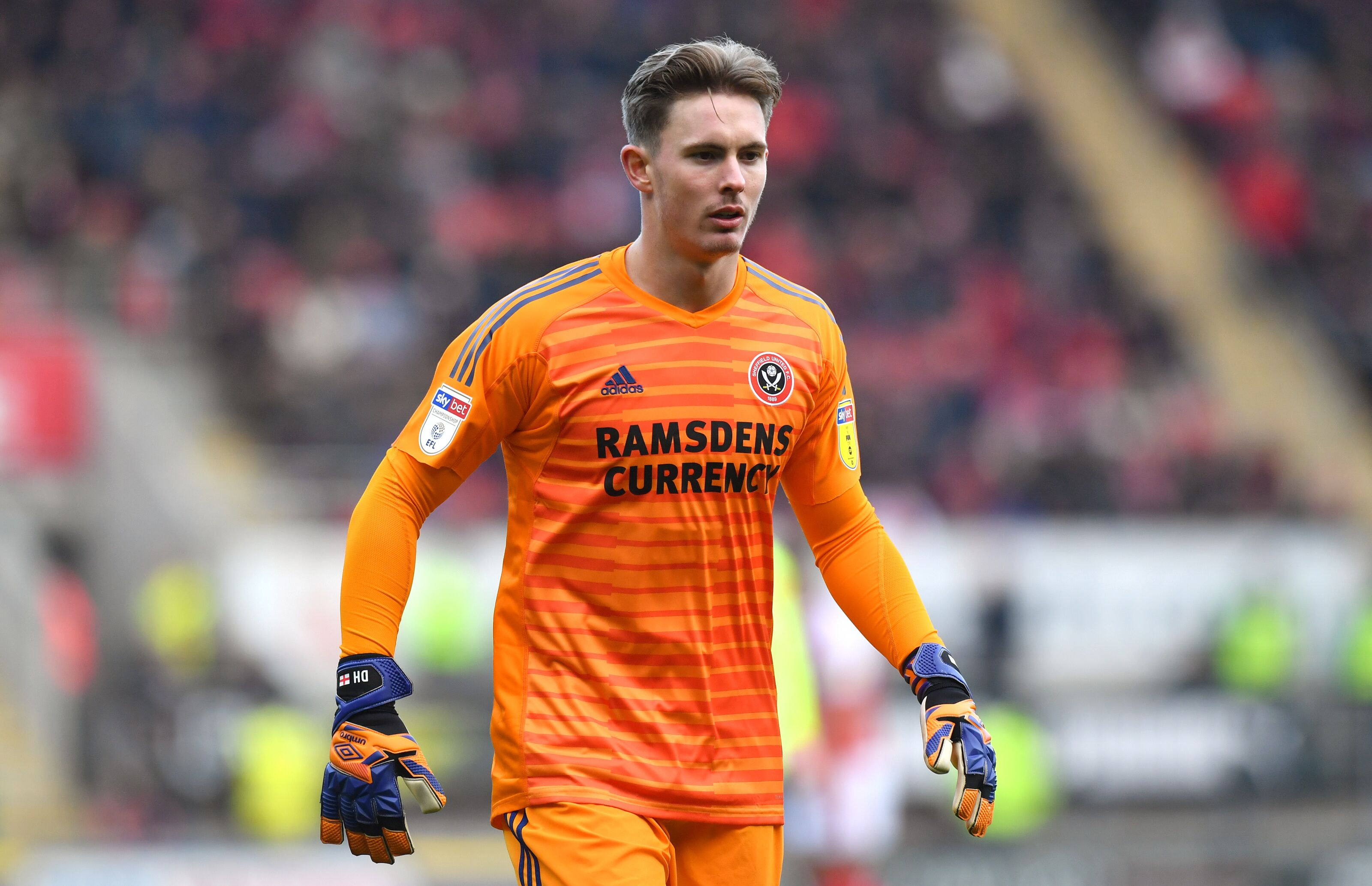 Sheffield United goalkeeper Dean Henderson Rotherham United v. Sheffield United - Sky Bet Championship - New York Stadium 24-11-2018. (Photo by Anthony Devlin / EMPICS / PA Images via Getty Images)