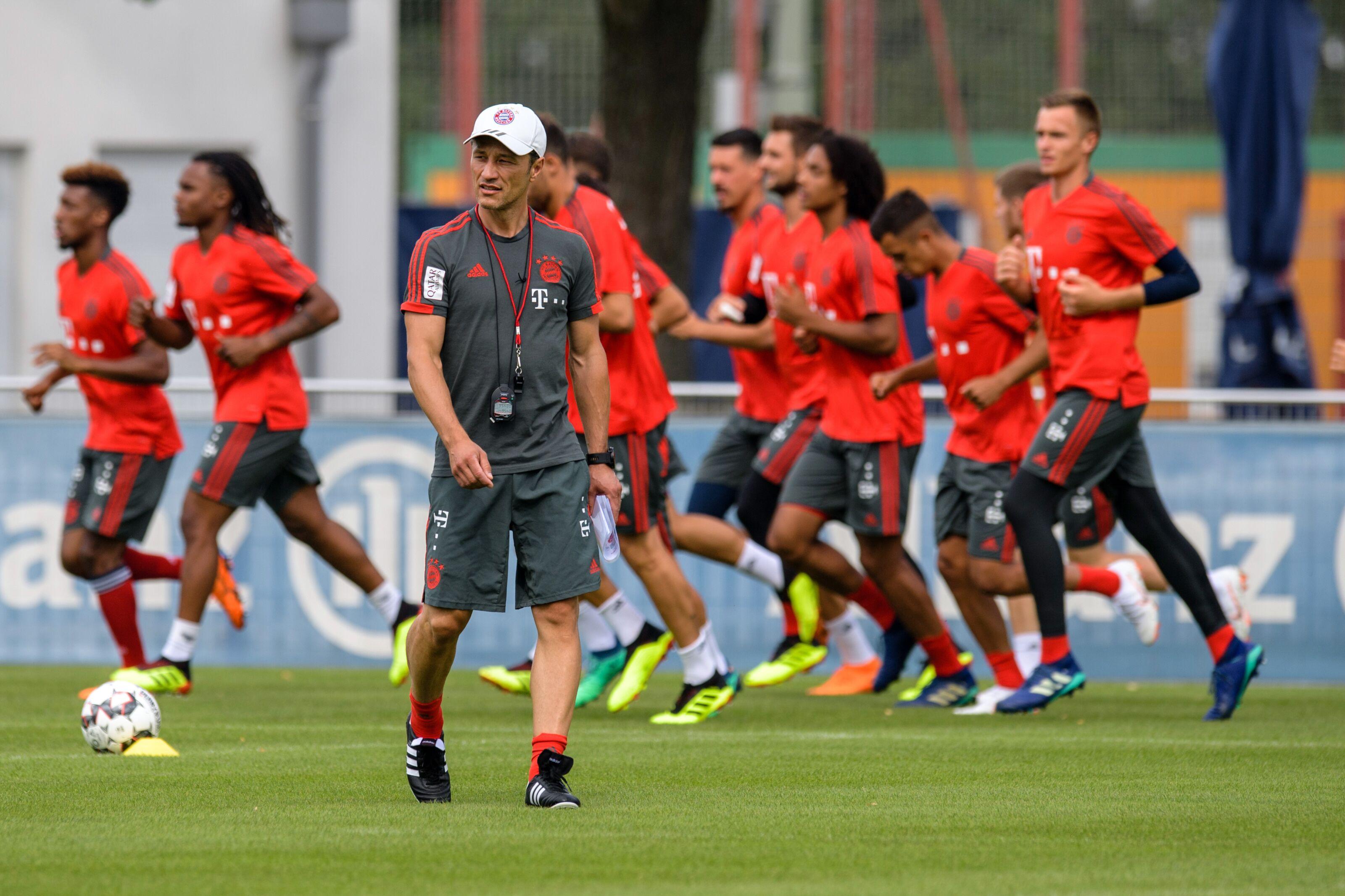 Munich Germany Soccer German Bundesliga Training Of Fc