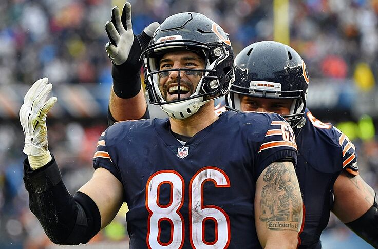 official photos 6fca4 eb6a4 Chicago Bears Must Re-Sign Zach Miller in Weak Tight End Market