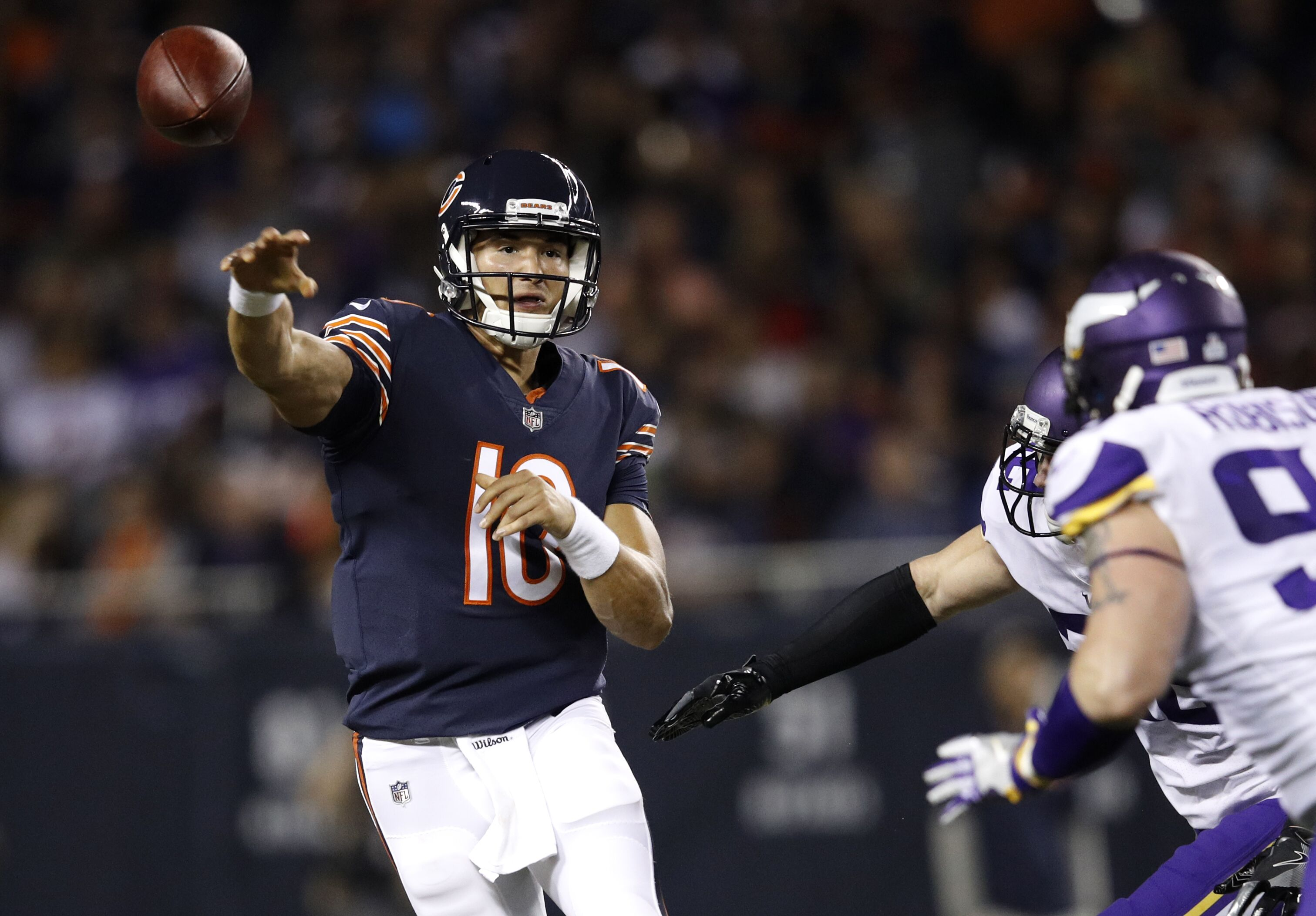 The difference from Mitch Trubisky to Chase Daniel