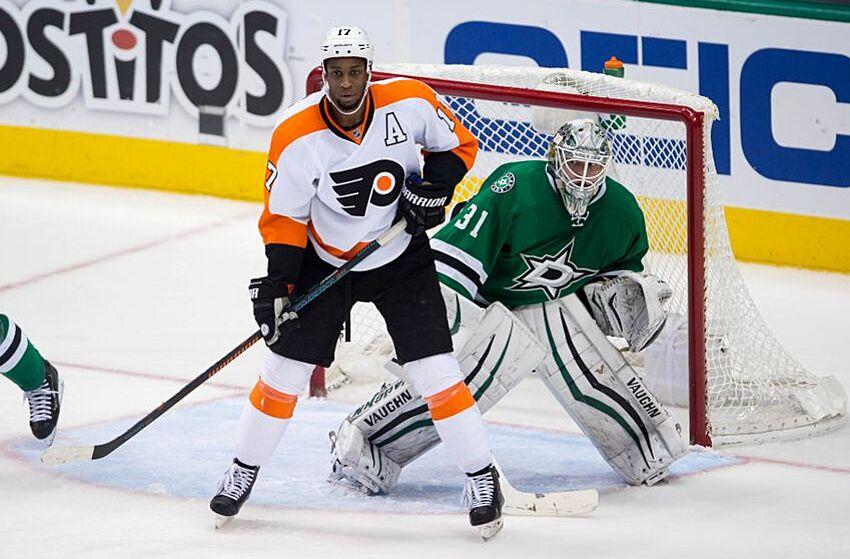 7ada4b8b Dec 11, 2015; Dallas, TX, USA; Philadelphia Flyers right wing Wayne
