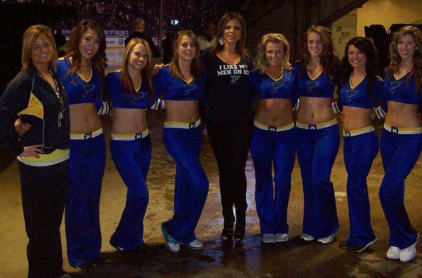 St louis blues ice girls or blues crew bleedin blue wade redden will not join st louis blues in next two games by alex hodschayan m4hsunfo