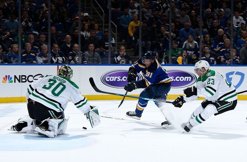 b63c59be617 St. Louis Blues Pros Cons Playoff Game 1 Vs. Dallas Stars