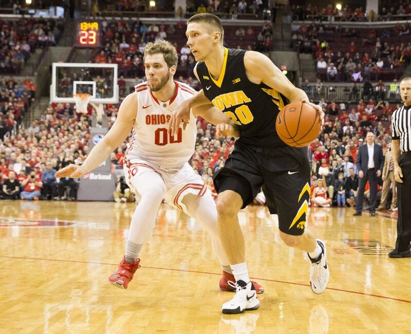 Image result for Ohio State vs Iowa basketball pic