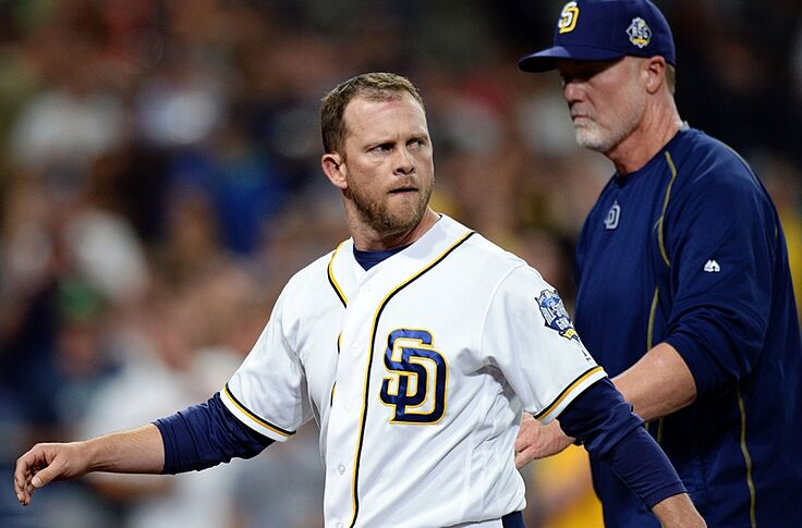 San Diego Padres Mark Mcgwire Manages His First Mlb Game