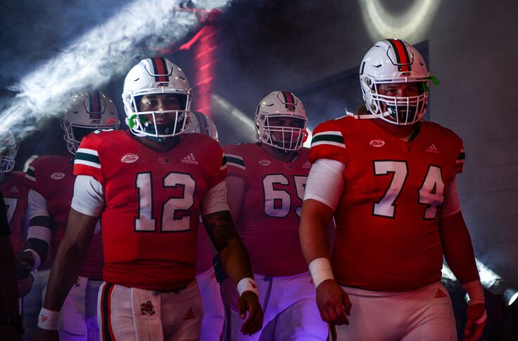 Miami football injuries on offensive line impacting position