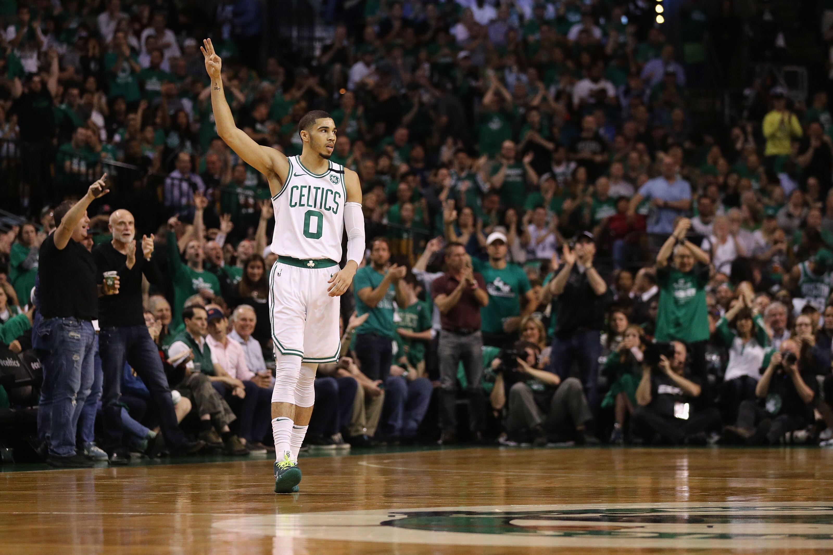 Boston Ma May  Jayson Tatum  Of The Boston Celtics Gestures