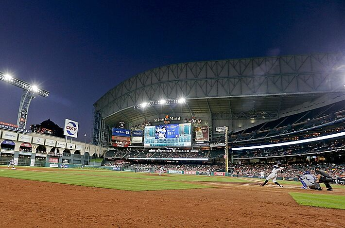 houston astros get lost in the led lights like the baseball