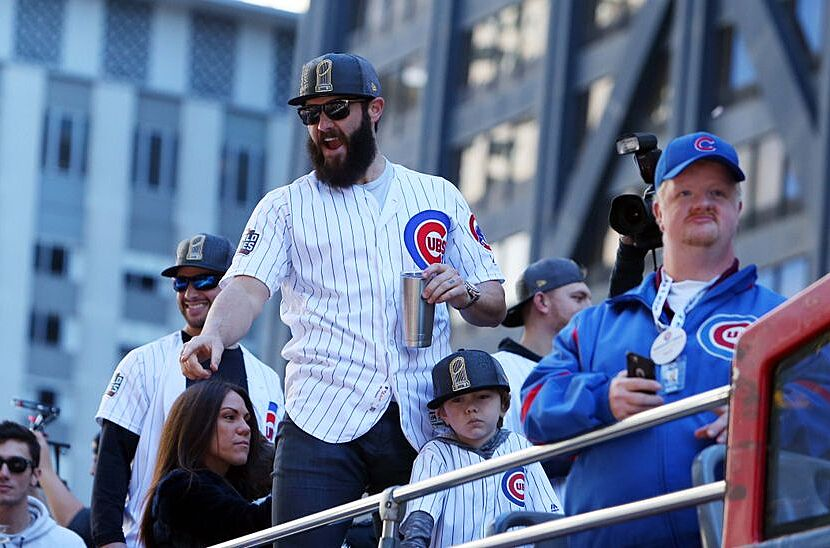 1409182f9fb Chicago Cubs  Jake Arrieta pays off bet with Tommy La Stella