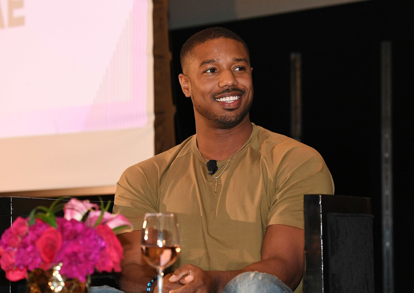 Michael B Jordan Surprised A Group Of Super Excited Kids At Their School
