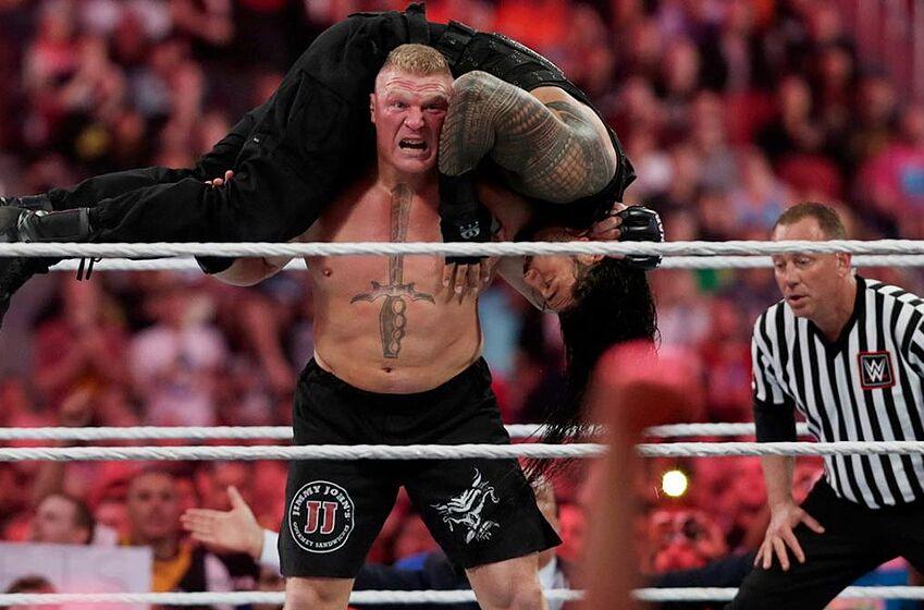 wwe wrestlemania 34 nobody wants brock lesnar vs roman reigns