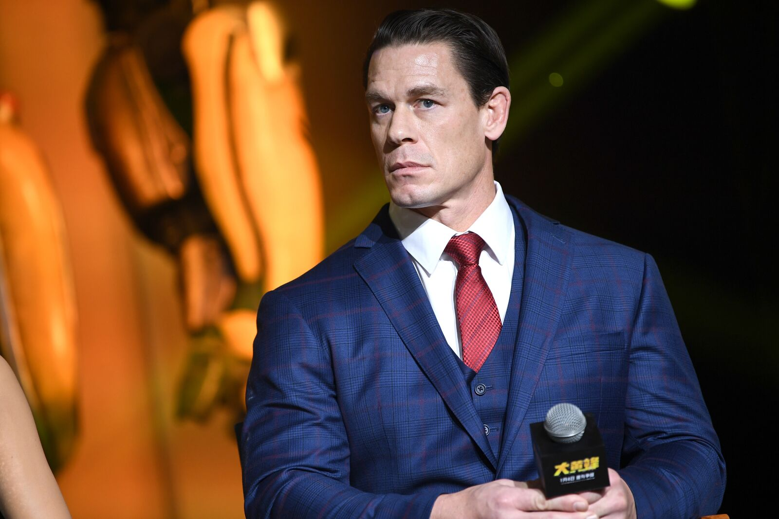 BEIJING, CHINA - DECEMBER 14: John Cena attends Paramount Pictures' Beijing press conference for 'Bumblebee' on December 14, 2018 in Beijing, China. (Photo by Yanshan Zhang/Getty Images for Paramount Pictures)